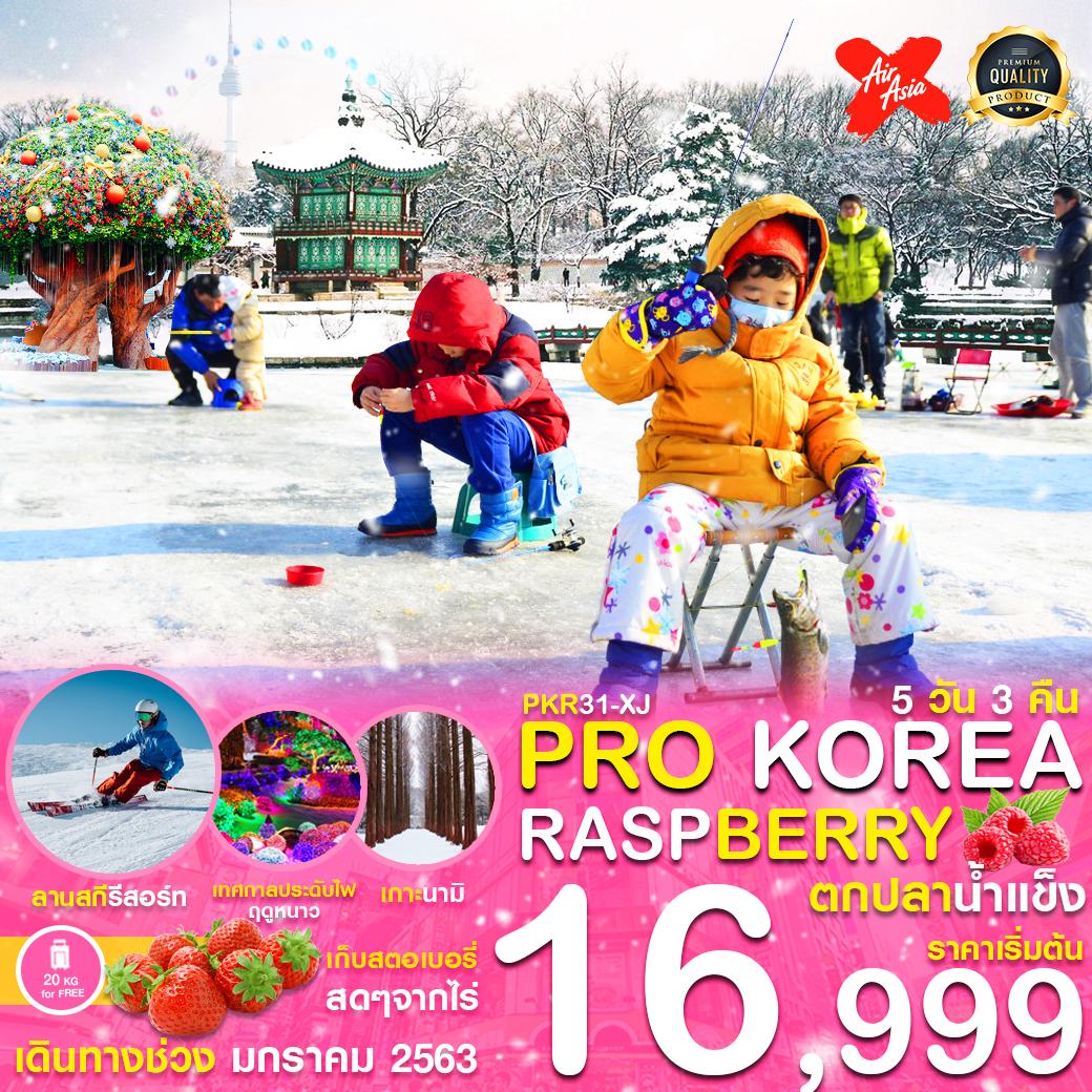 PRO KOREA RASPBERRY ตกปลาน้ำแข็ง  5D3N