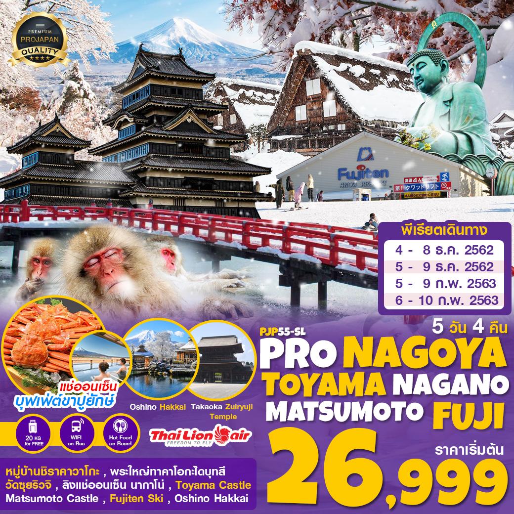 PRO NAGOYA SHIRAKAWAGO TOYAMA NAGANO MATSUMOTO FUJI 5D4N