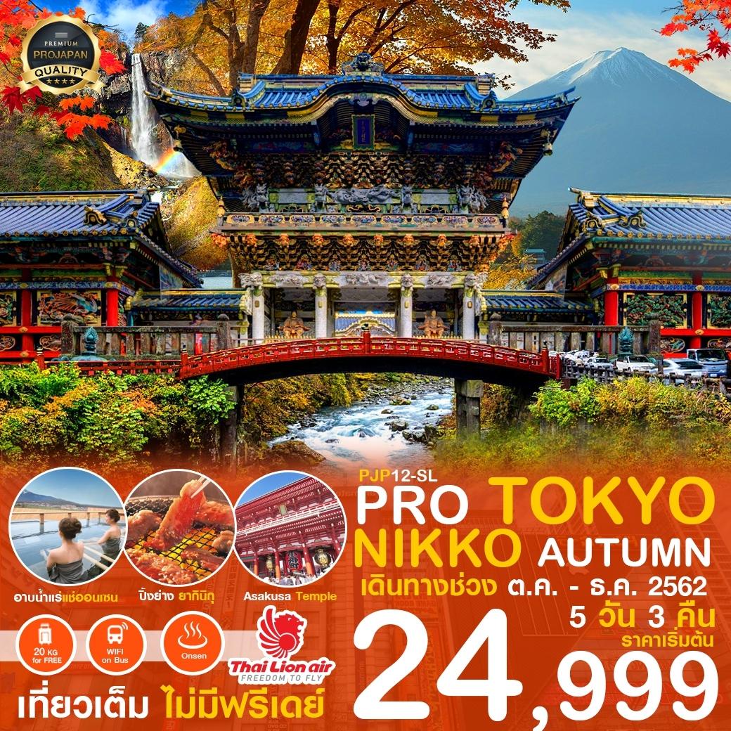 PRO TOKYO NIKKO AUTUMN 5วัน3คืน (SL) เดินทาง ต.ค. - ธ.ค.