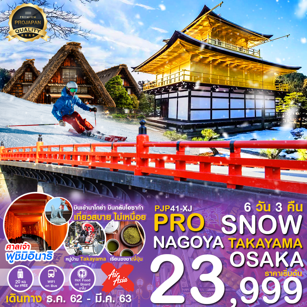 PRO SNOW NAGOYA OSAKA 6D3N (DEC – MAR 2020)