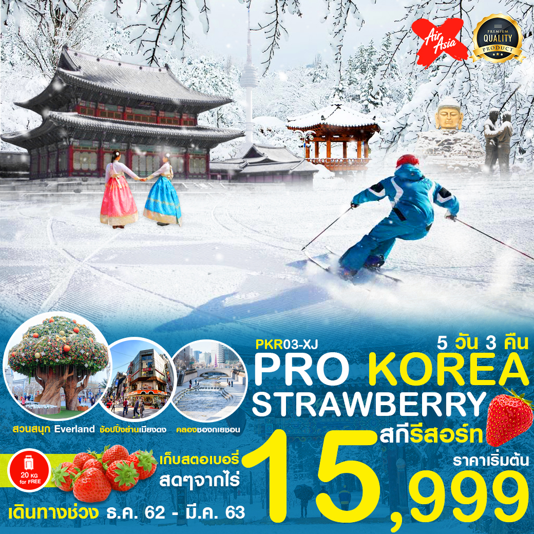 PRO KOREA STRAWBERRY สกีรีสอร์ท 5D3N