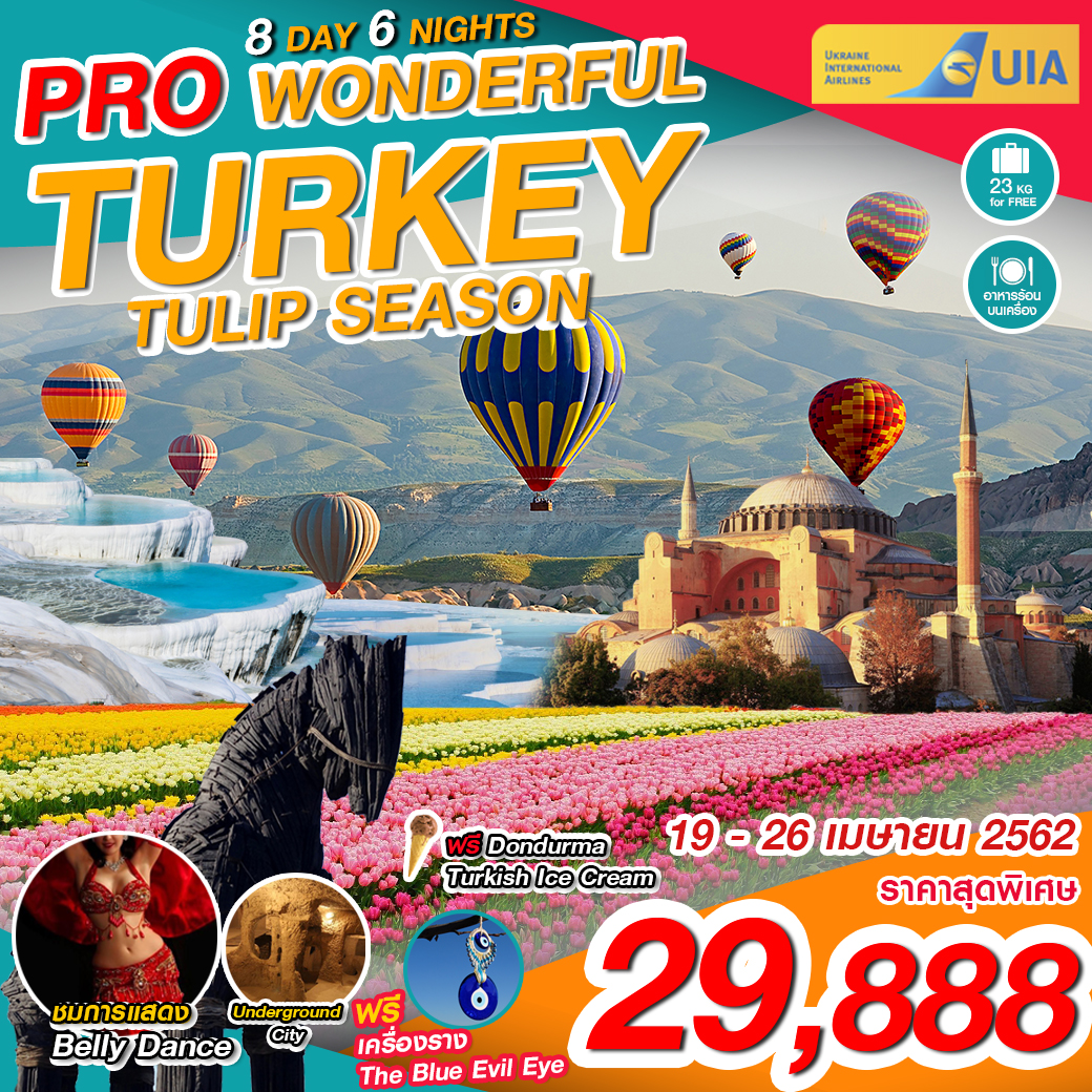 PTK02-PS PRO TUKEY WONDERFUL TULIP SEASON 8D6N