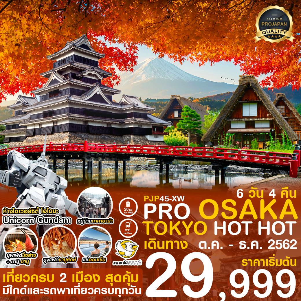 PRO OSAKA TOKYO HOT HOT เดินทาง ต.ค.-ธ.ค.62 ราคาเริ่มต้น 29,999