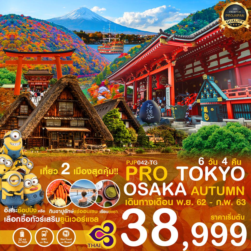 PRO TOKYO OSAKA AUTUMN 6D4N เดินทางเดือน พ.ย. 62 - ก.พ. 63